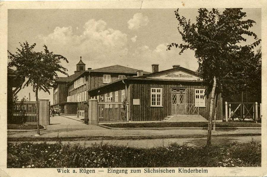 Wiek a. Rügen Eingang zum Sächs. Kinderheim