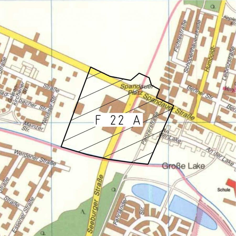 F 22A Stadtplanausschnitt