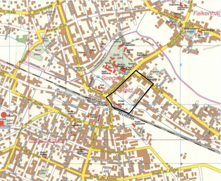 F 4 Stadtplanausschnitt