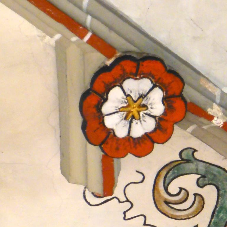 kleine Blume auf den Kreuzrippen