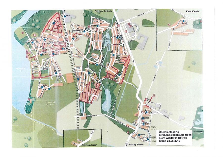 © Gemeinde Rangsdorf - Karte Stand 24.05.2018