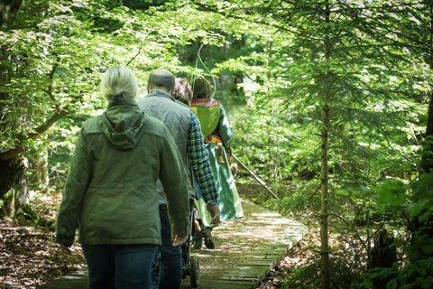 Wanderer im Naturpark
