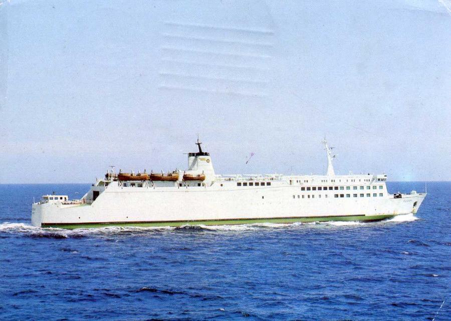 Fährschiff Rügen 1989