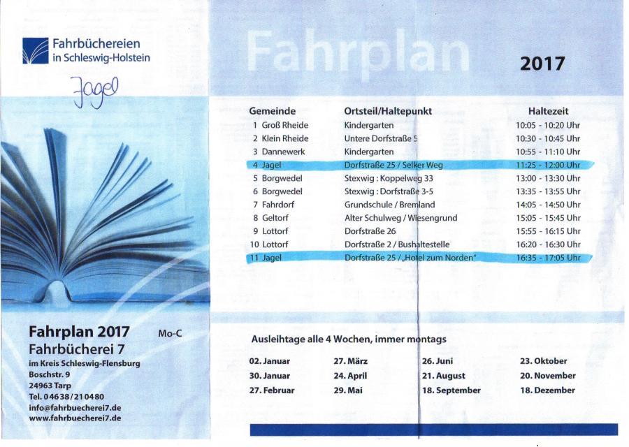 Fahrbücherei Plan