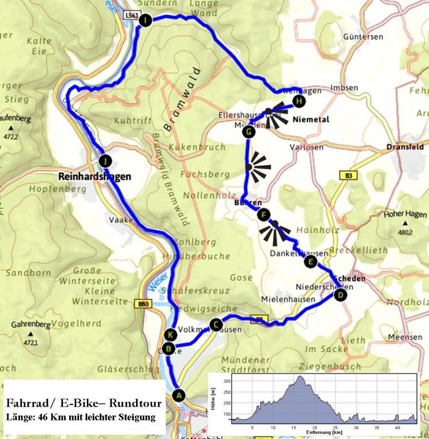 Fahrradrundtour HMÜ, Bühren, Bursfelde, HMÜ