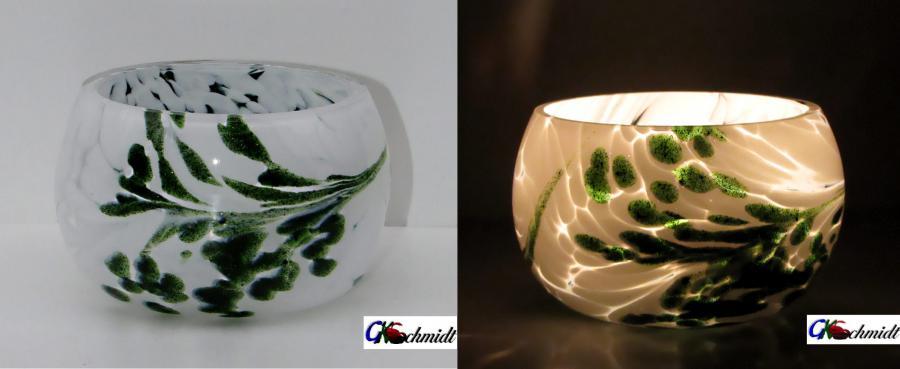 Fassteelichter, Lumineszierende Sonderanfertigung für Firmenfeier,.