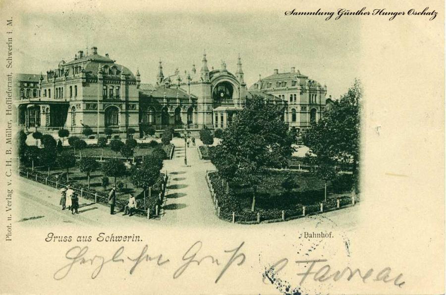 Gruss aus Schwerin Bahnhof