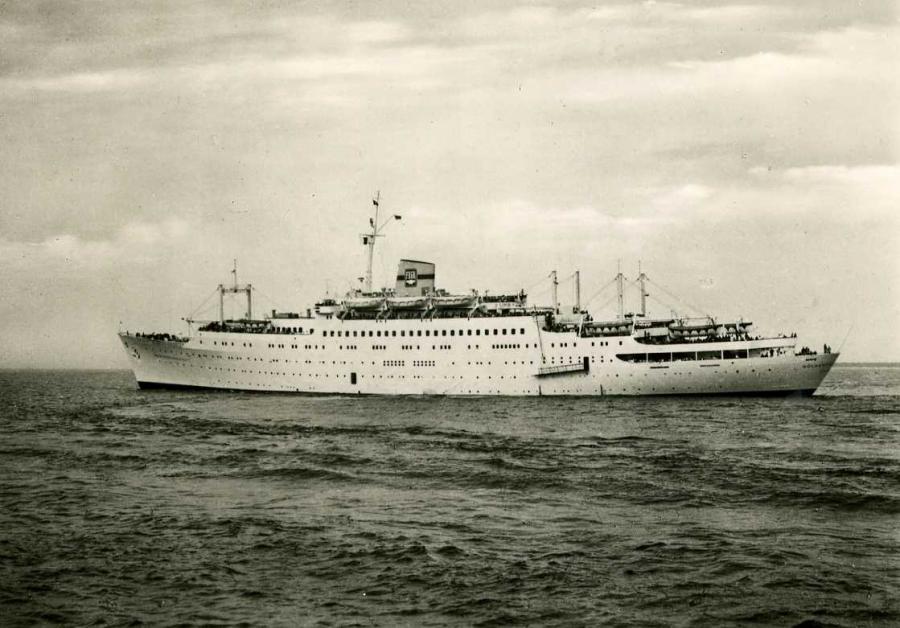 FDGB Urlauberschiff Völkerfreunfschaft 1959