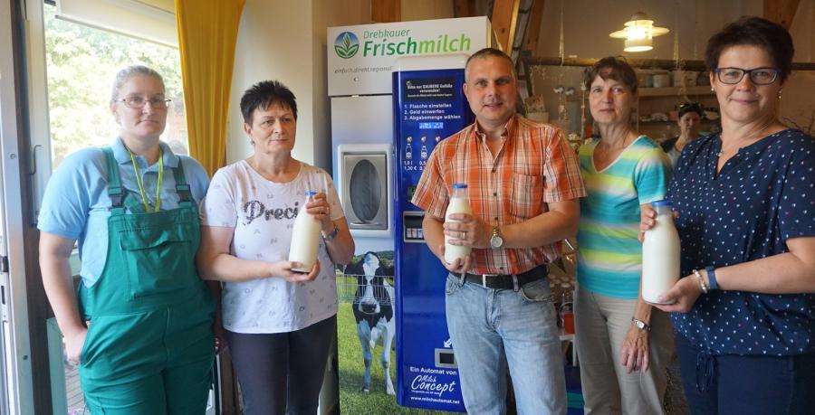 Milchautomat im Bauernhofladen Lindchen