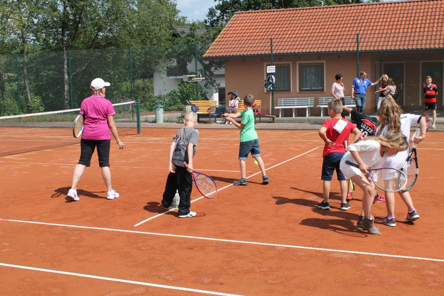 Schulfest 2014 Tennis 1