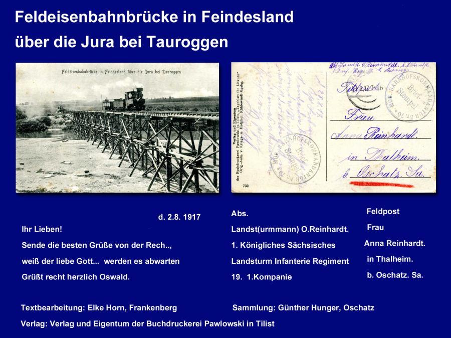 Feldeisenbahnbrücke in Feindesland