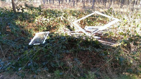 Illegaler Müll Fensterrahmen Altdorfer Weg