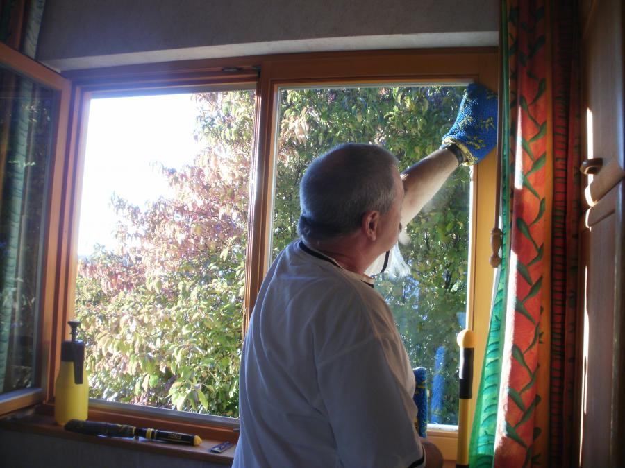 Fensterrahmen Reinigung