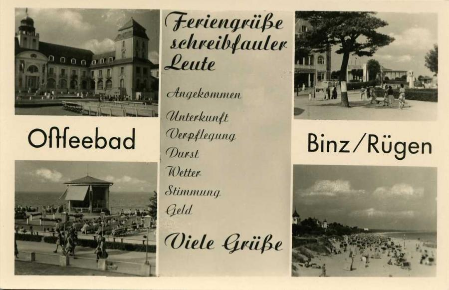 Ostseebad Binz Rügen Feriengrüße 1058