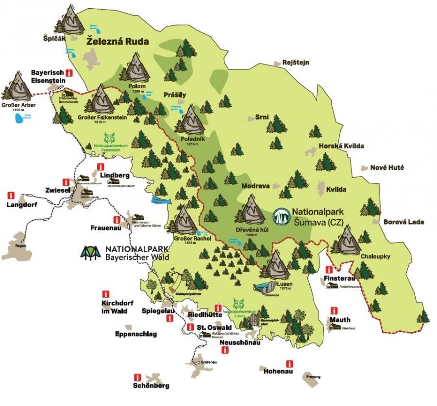 Übersicht Ferienregion Nationalpark Bayerischer Wald
