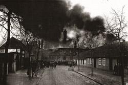 Brand der Steingutfabrik 1925