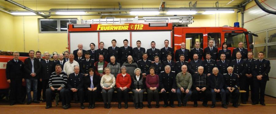 Jahreshauptversammlung der Freiwilligen Feuerwehr am 31.1.2014