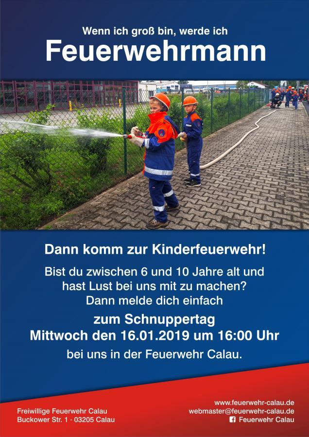 Flyer Kinderfeuerwehrtag