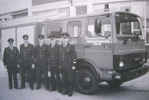 Empfangnahme des IVECO- Feuerwehrfahrzeugs 1987