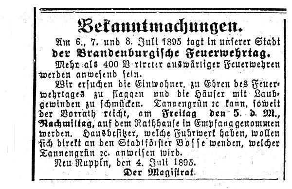 Bekanntmachung Brandenburgtag 1895