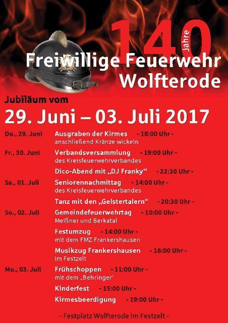 140 Jahre Feuerwehr Wolfterode