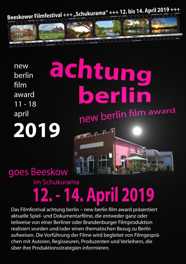 Plakat achtung berlin