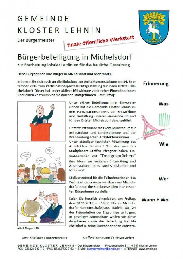 Finale Bürgerbeteiligung Michelsdorf