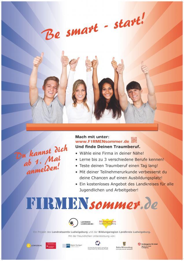 Firmensommer-Plakat
