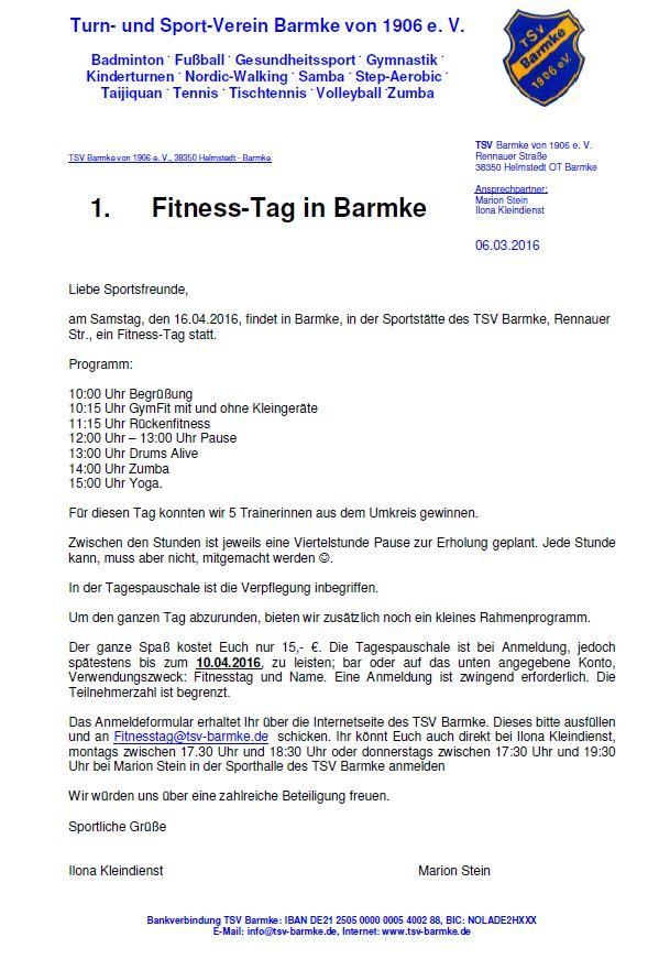 Fitness-Tag 2016