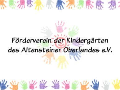 Förderverein der Kindergärten des Altensteiner Oberlandes e.V.