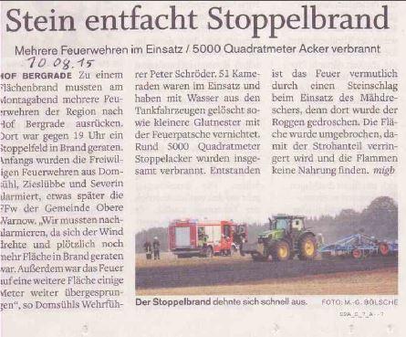 Flächenbrand Hofbergrade 10.08.2015