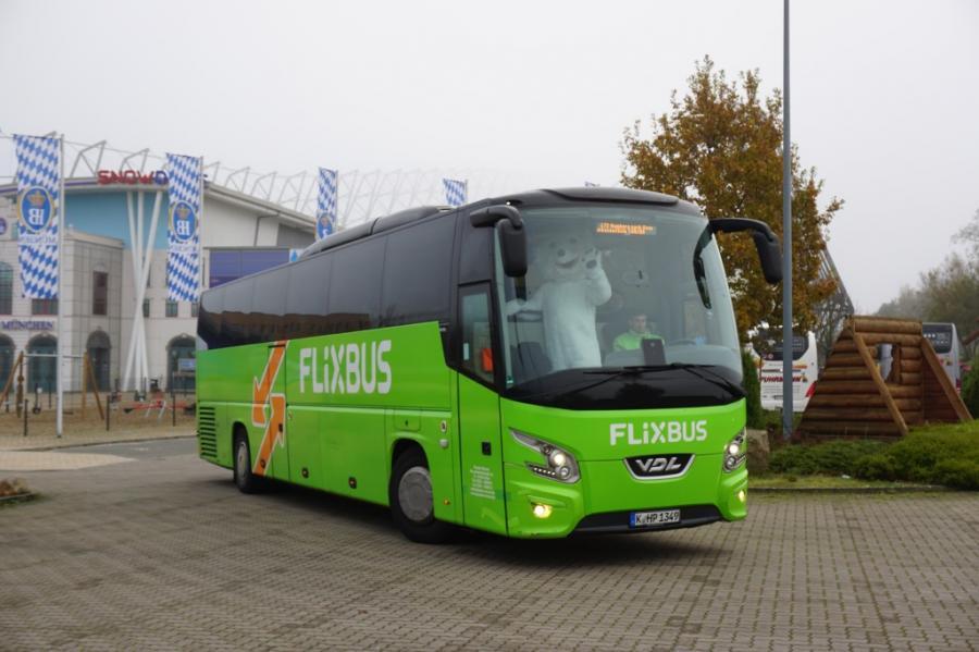 Der FlixBus hält zweimal täglich in Bispingen am Snow Dome