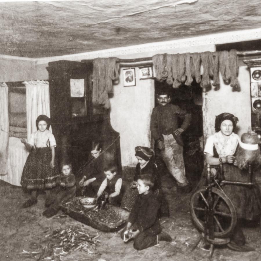Familie im Spreewald um 1840 Foto- Sammlung Museum OSL