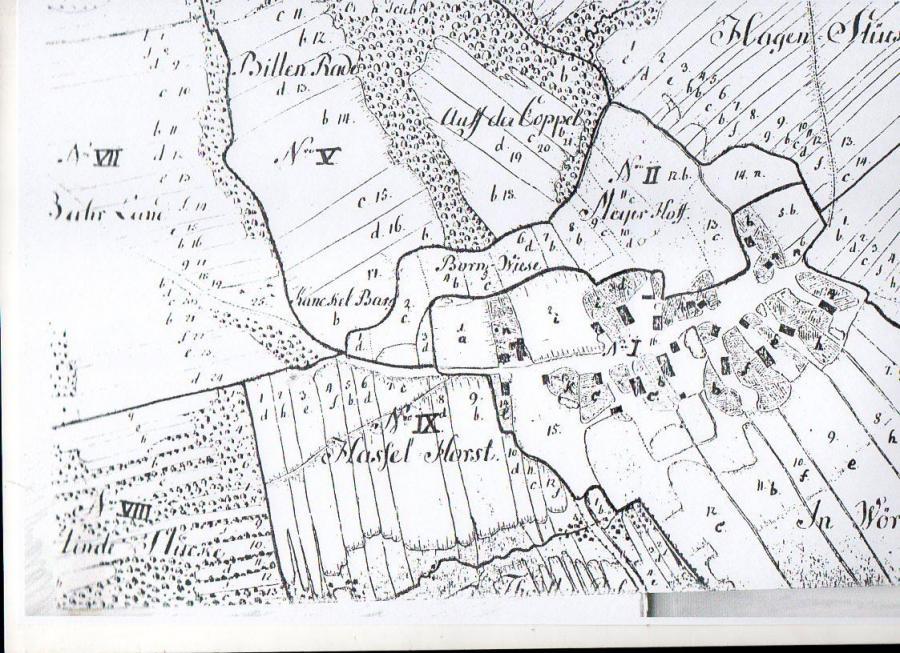 Flurkarte aus dem Jahr 1729
