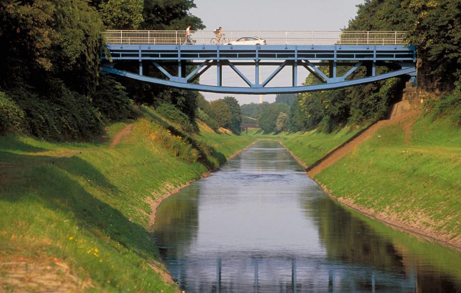 Fluss2010/11 Emscher / Foto: Emschergenossenschaft