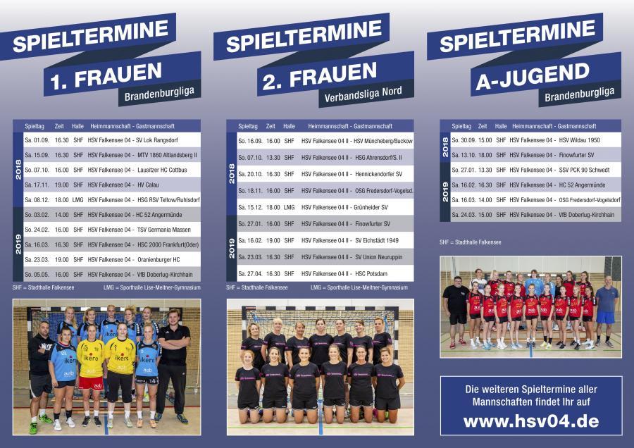 HSV Falkensee 04 Flyer Seite 2 für die Saison 2018/2019