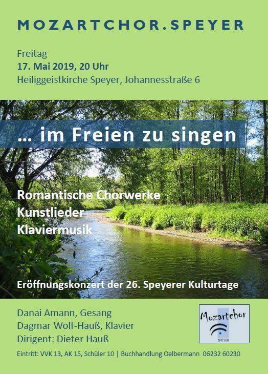 """Konzertflyer """"... im Freien zu singen"""""""