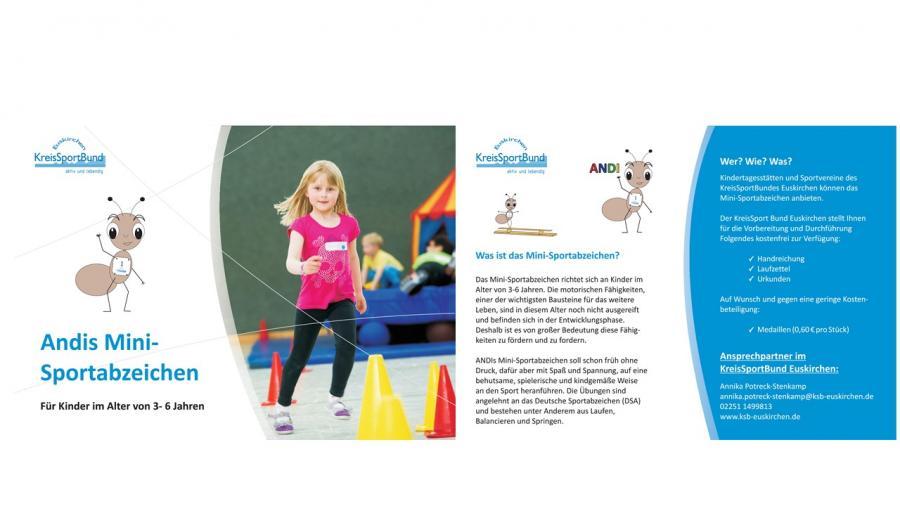 Flyer Mini-Sportabzeichen