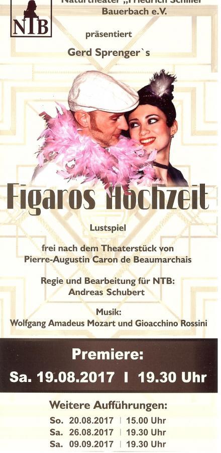 Flyer - Wiederaufnahme Figaros Hochzeit 2017