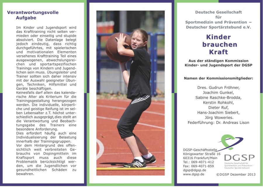 Kindersport und Kraftausdauer1