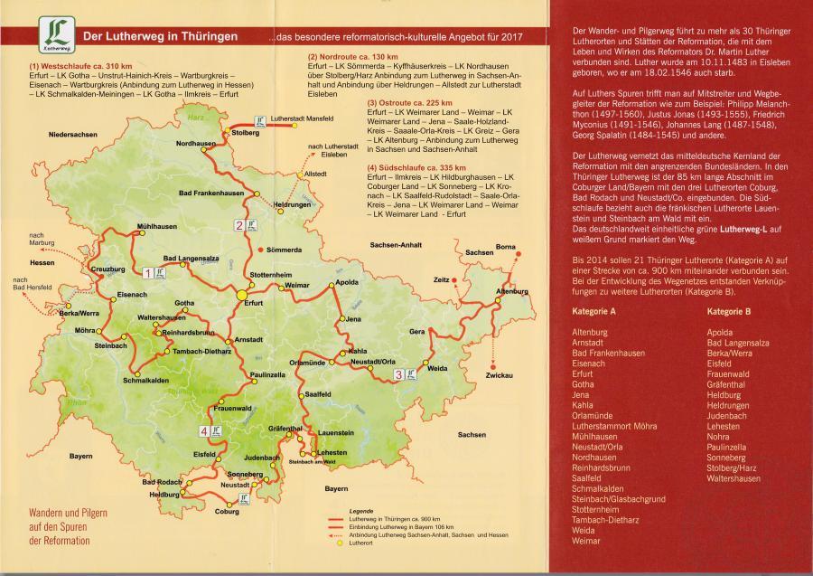 der Lutherweg in Thüringen