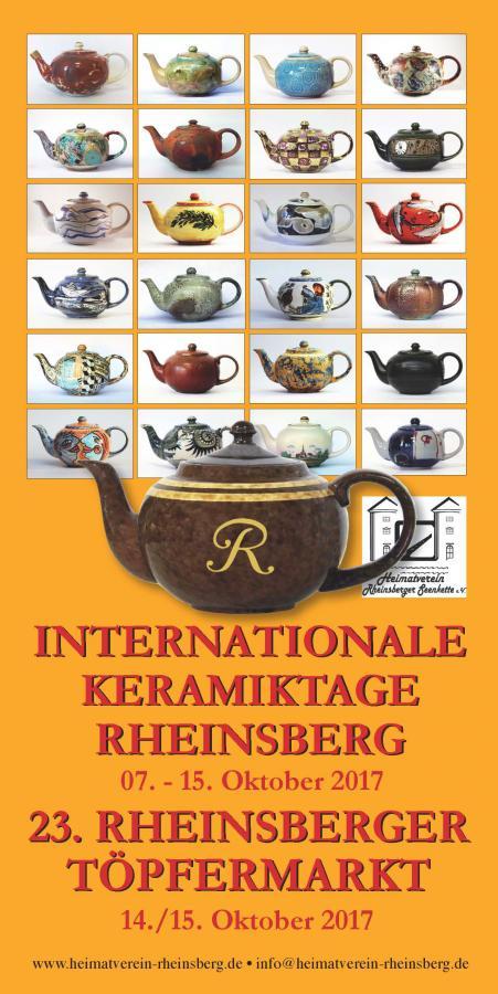 Flyer - Internationale Keramiktage Rheinsberg - 23. Rheinsberger Töpfermarkt 2017