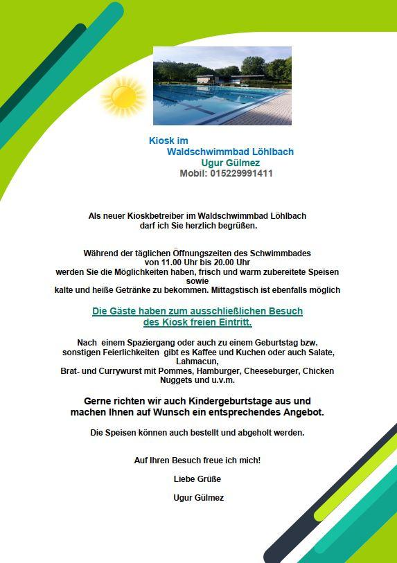 Flyer Schwimmbad