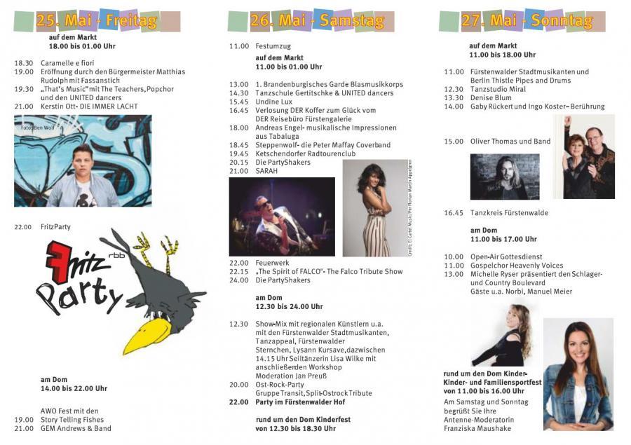 Stadtfest Flyer