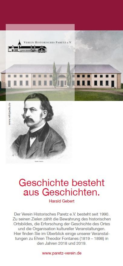 Flyer zu Fontane in Paretz