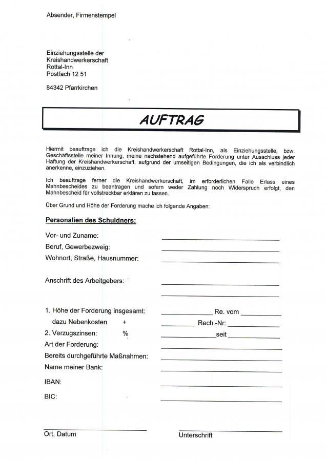 Forderungseinzug Seite 1
