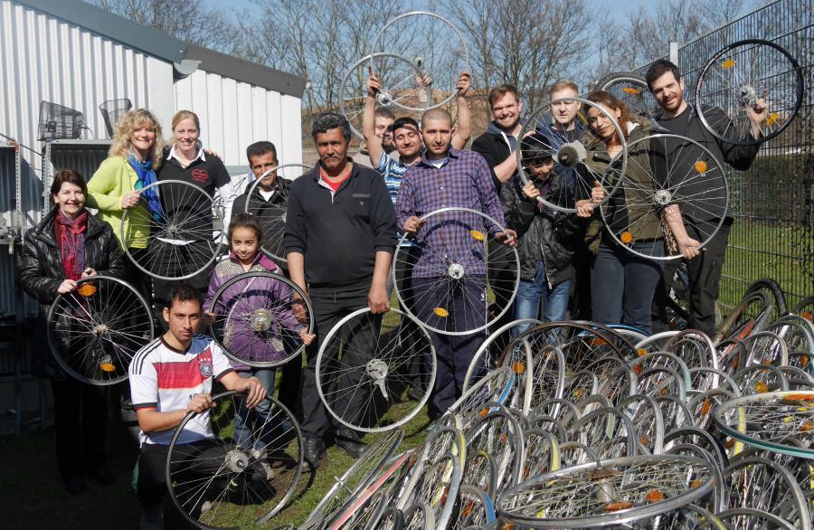 Fahrradprojekt mit neuen Nachbarn
