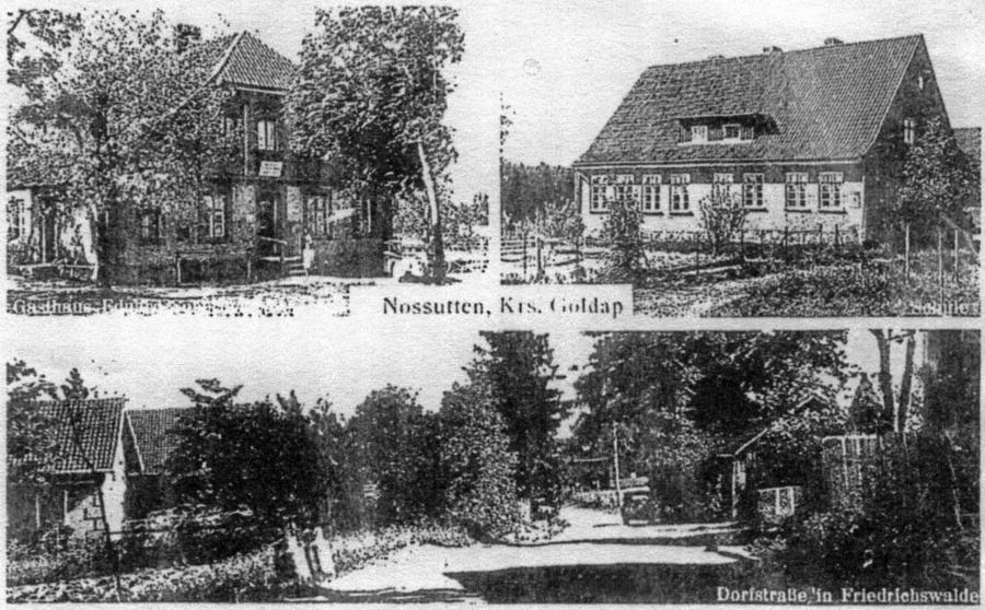 Ansichtskarte aus Nossutten, Kreis Goldap