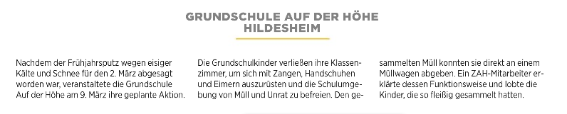 Frühjahrsputz 2018 - HAZ-Artikel 16.04.2018