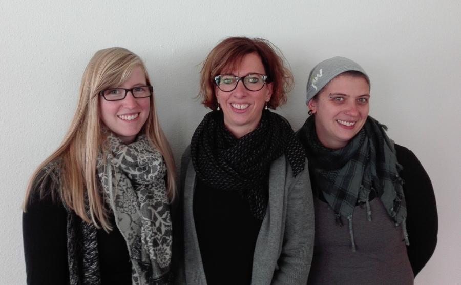 Das Büroteam v.l.n.r. Magdalena Lutz, Vivien Gooth, Patrizia Pascale